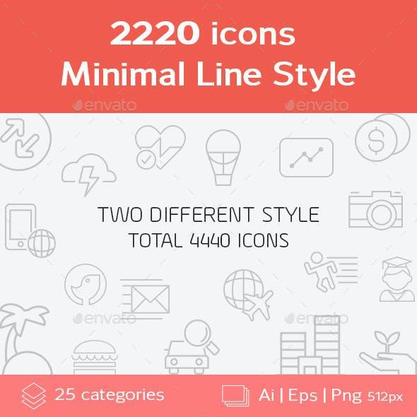 2220 Minimal Line Icons