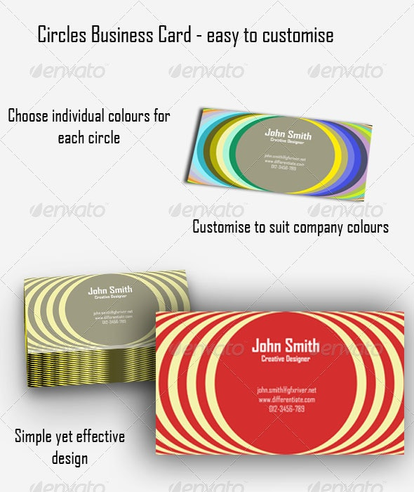 Circles Business Card - Creative Business Cards