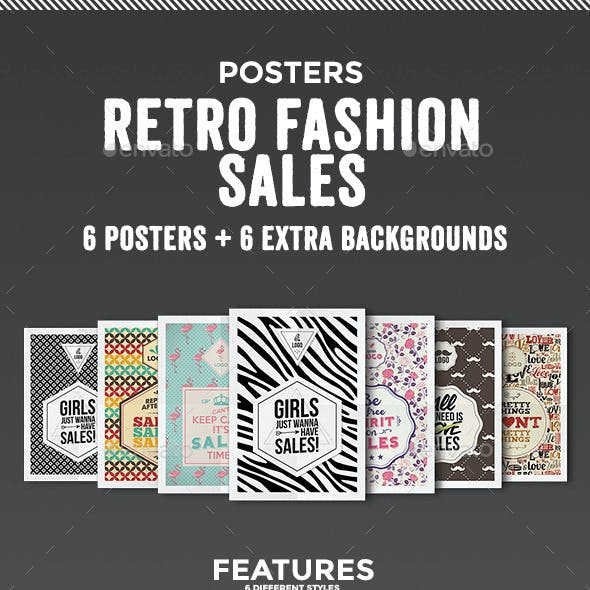Retro Fashion Sales - Posters