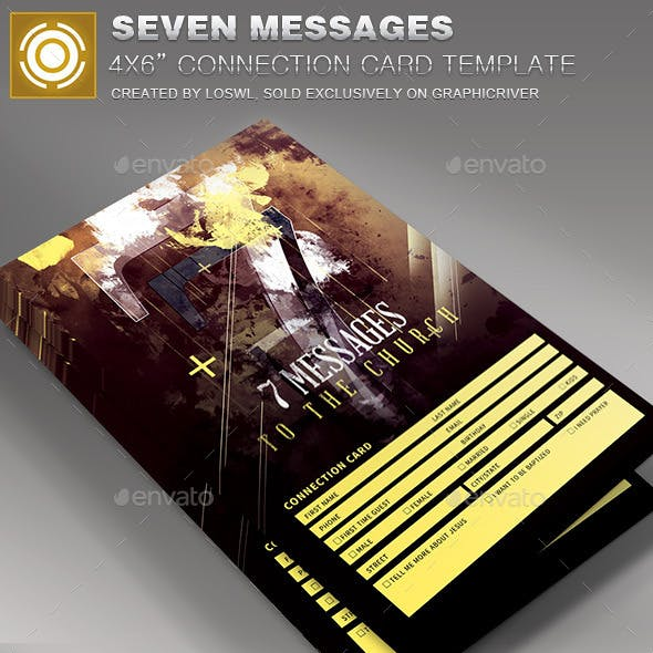 Seven Messages Church Connection Card Template
