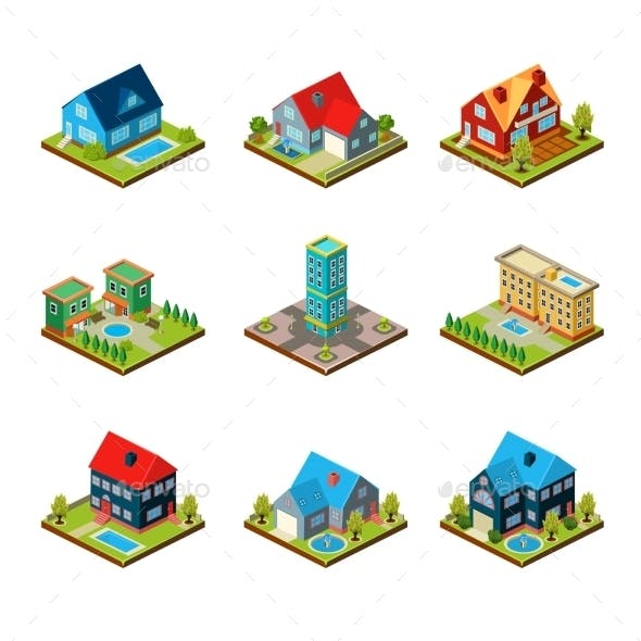 Private House 3d Isometric
