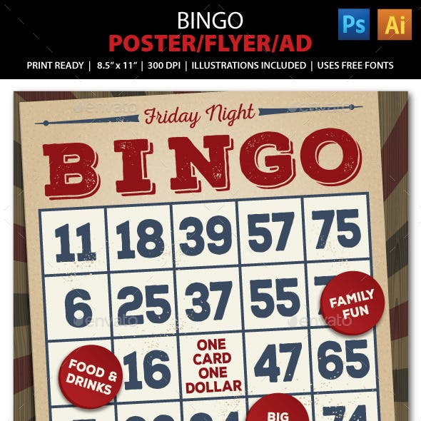 Bingo Event Poster, Flyer or Ad