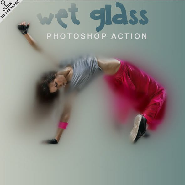 Wet Glass Photoshop Action