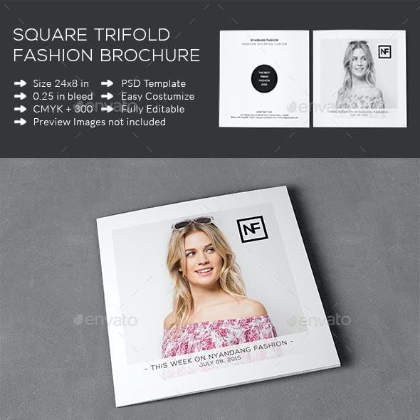 Square Trifold Fashion Brochure