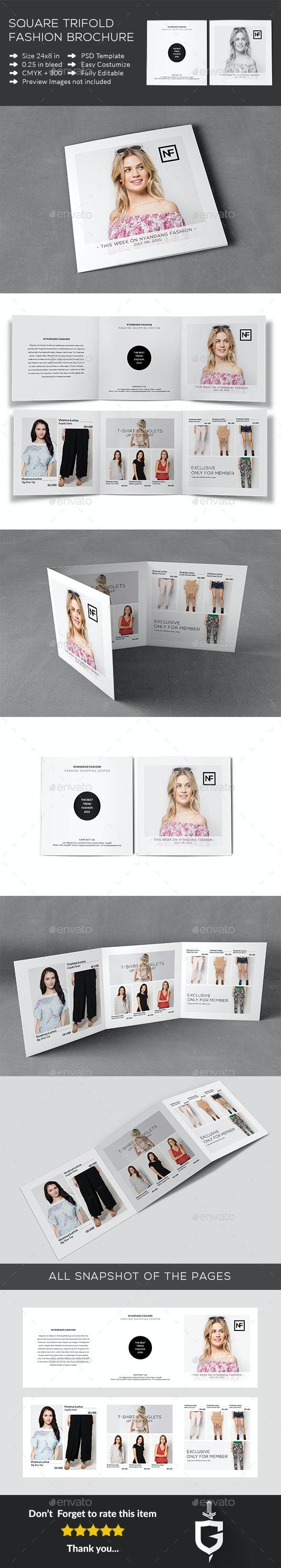 Square Trifold Fashion Brochure - Catalogs Brochures