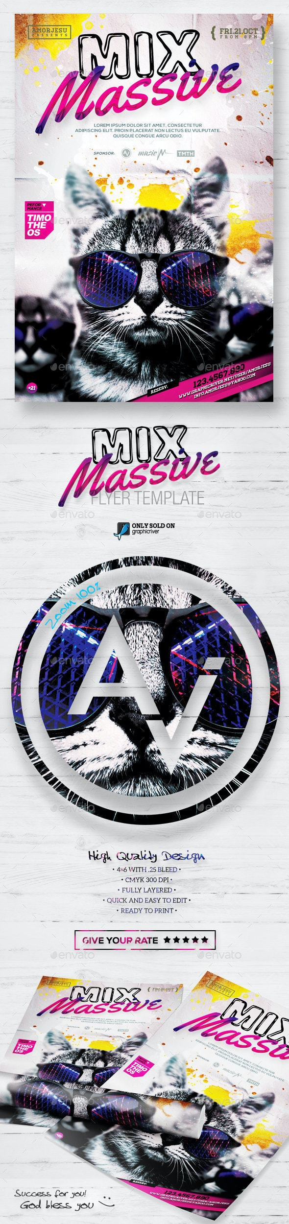Mix Massive Flyer Template - Clubs & Parties Events