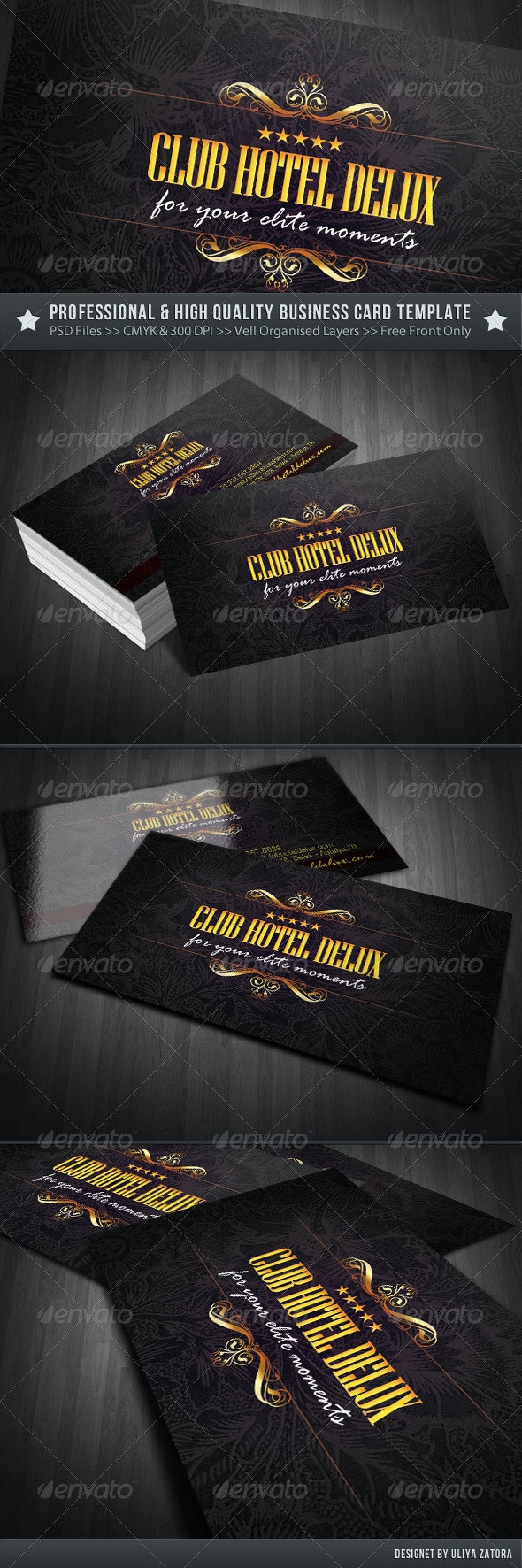 Royal Resort Hotel Business Card - Industry Specific Business Cards