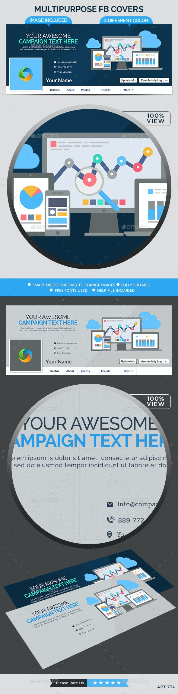 Mutipurpose Facebook Cover - Facebook Timeline Covers Social Media