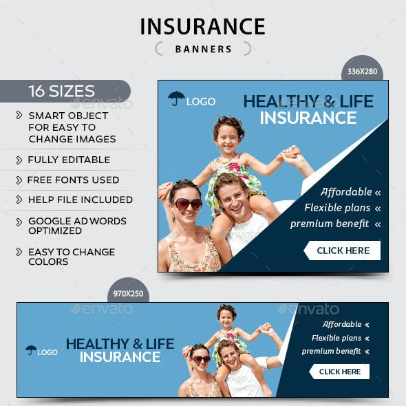 Life Insurance Banners