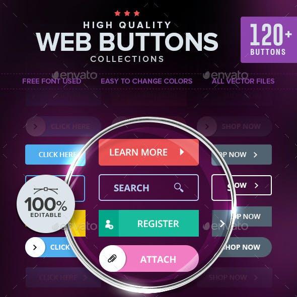 Modern Web Buttons - 120+ Designs