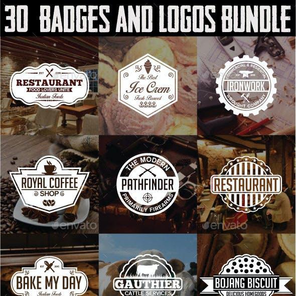 30 Badges and Logos Bundle