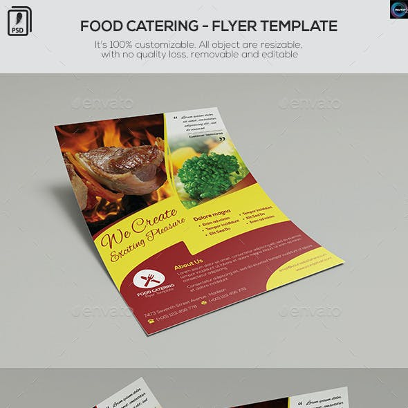 Food Catering - Flyer Template