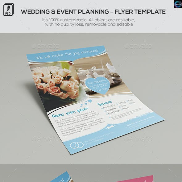 Wedding and Event Planning - Flyer Template