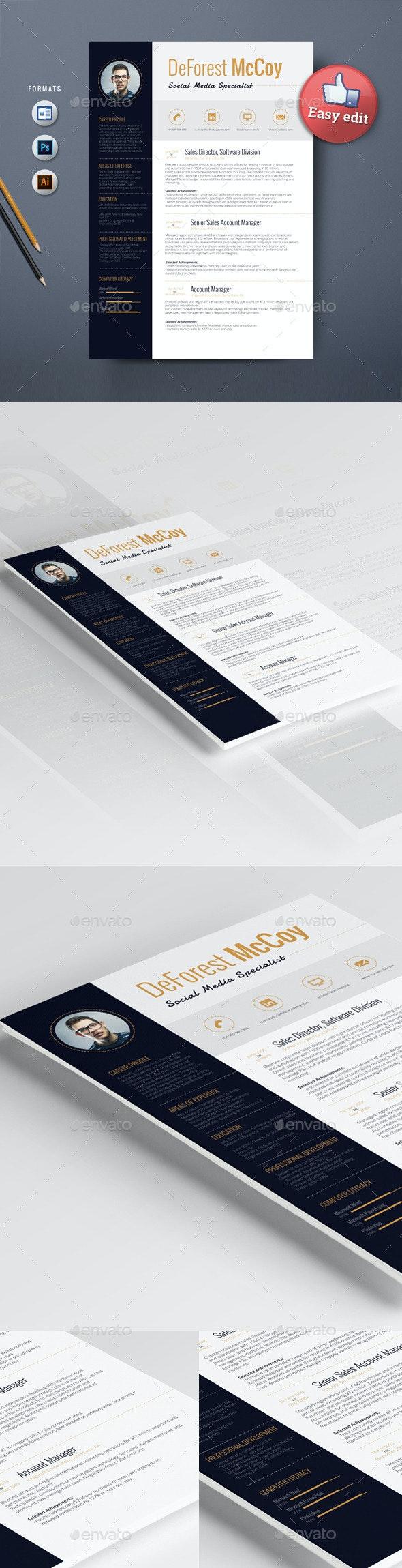 Resume Template Alderamin - Resumes Stationery