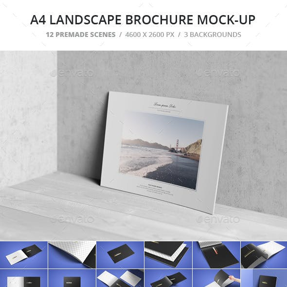 A4 Landscape Brochure Mock-Up