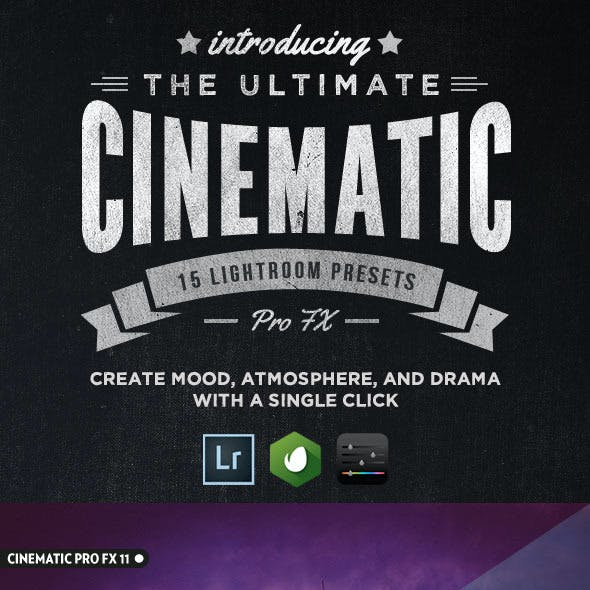 15 Cinematic Pro Fx Lightroom Presets