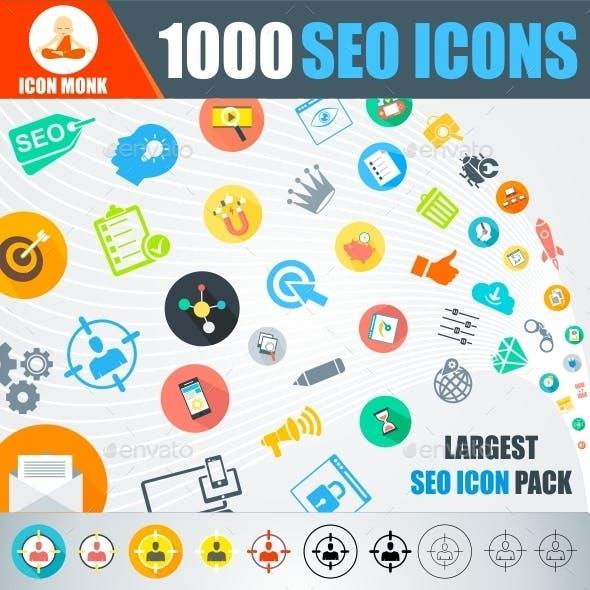 1000 SEO Icons-Mega Pack
