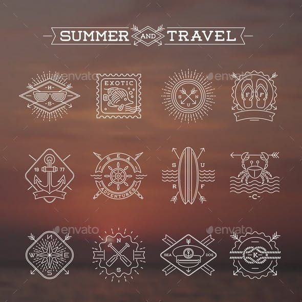 Summer and Travel Signs and Symbols