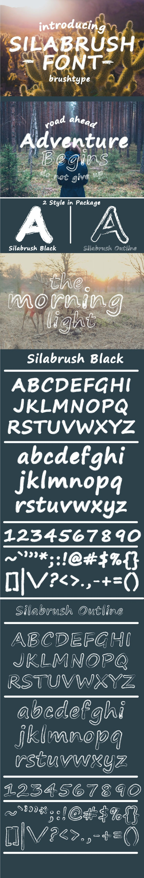 Silabrush Font - Decorative Fonts