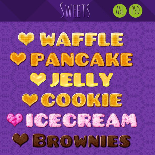 6 Sweets Text Syles