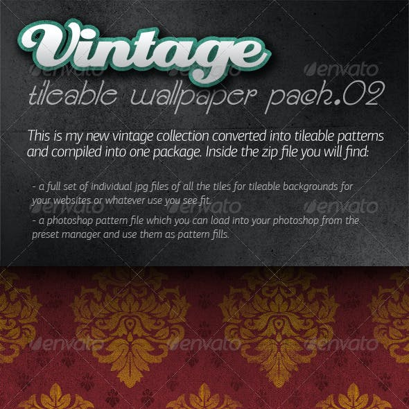 Vintage Tileable Wallpaper Pack 02