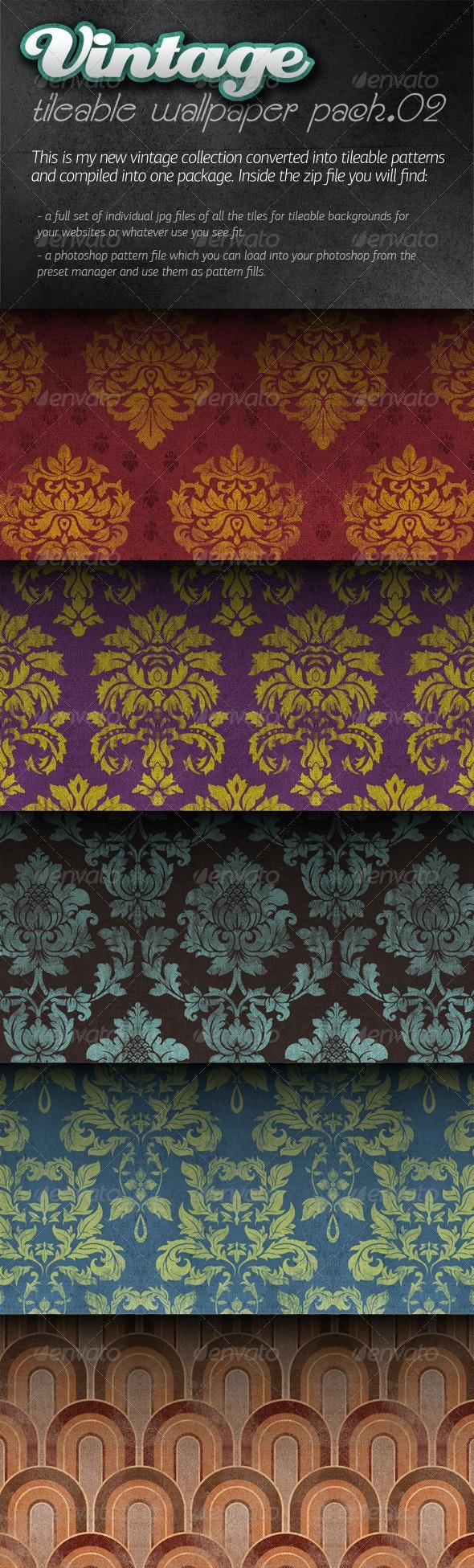Vintage Tileable Wallpaper Pack 02 - Patterns Backgrounds