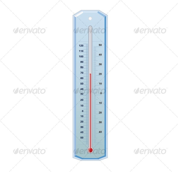 :: Medical Thermometer Vector Object - Man-made Objects Objects
