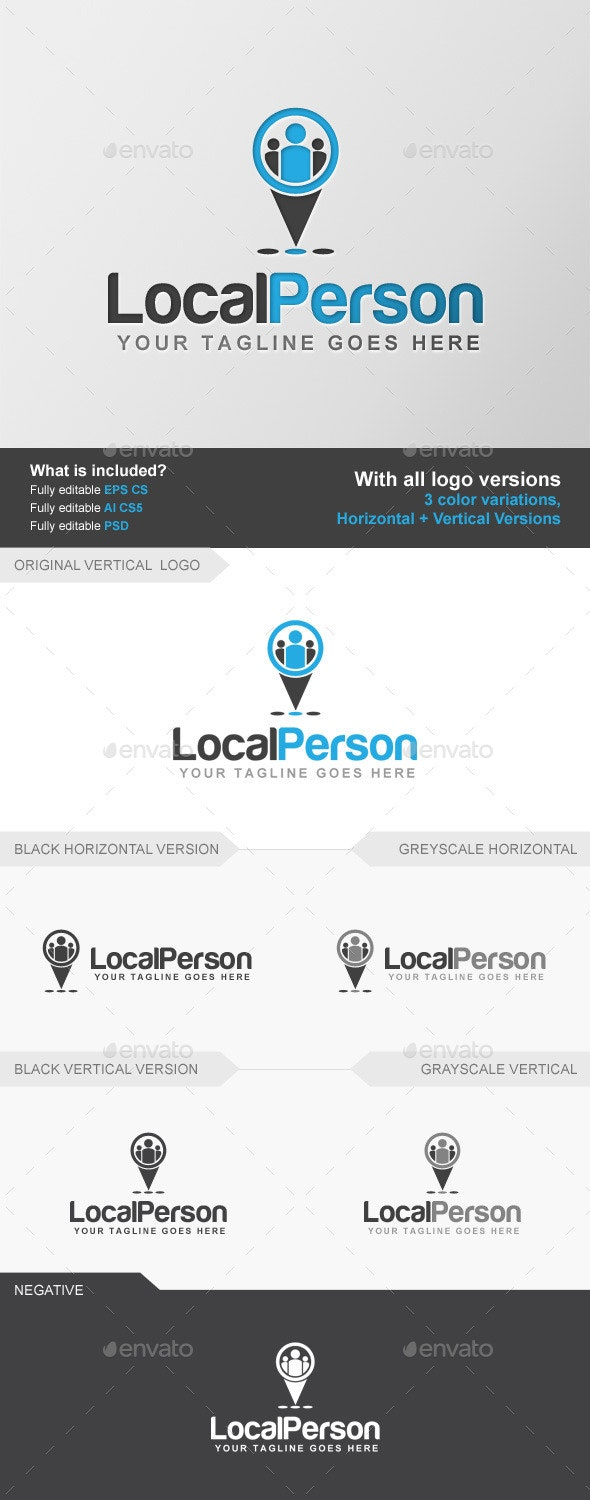 Find Local Person - Humans Logo Templates