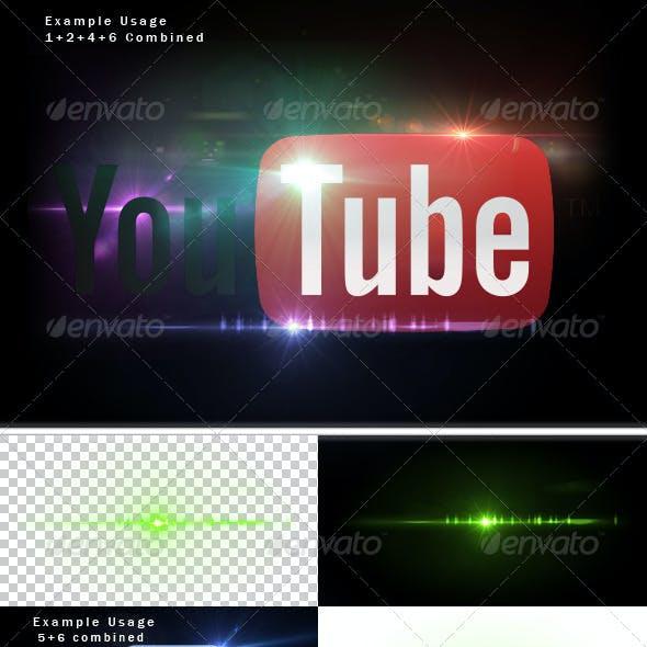 6 Unique Lens Flares - Light Effects -2-