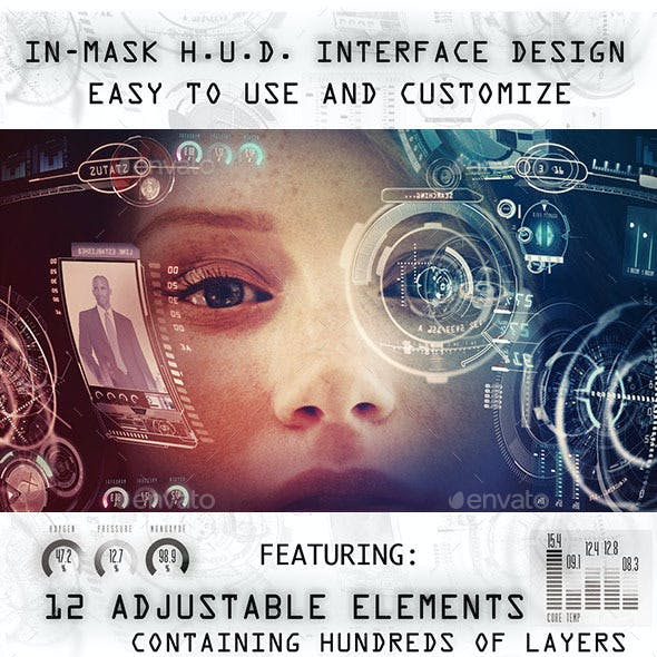 In Mask H.U.D. Interface Design Mock-up