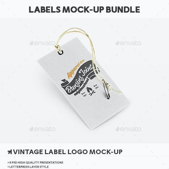 Apparel Label Tag Mockup Bundle