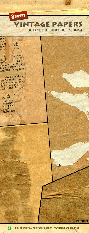 Vintage Paper Texture Pack 20