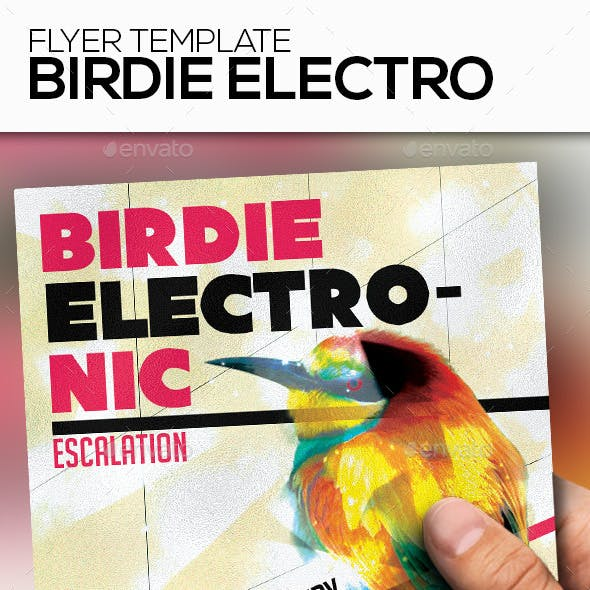 Birdie Electronic Party Flyer Template