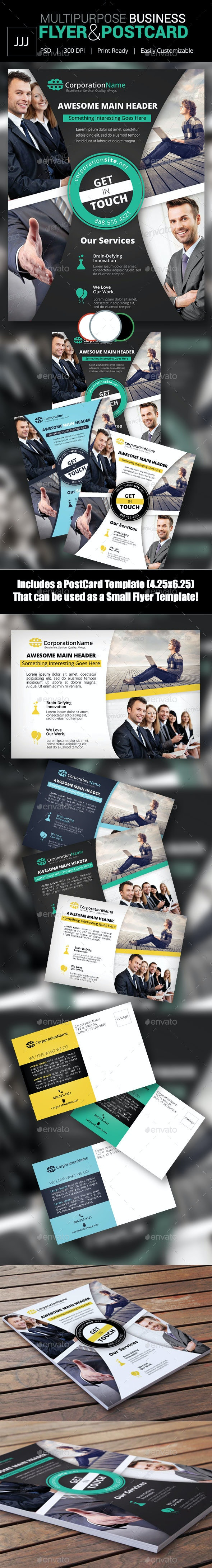 Business Flyer 46 with Postcard - Corporate Flyers