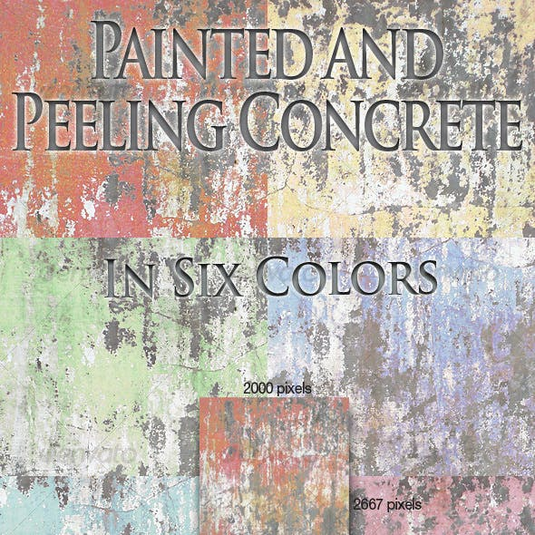 Painted and Peeling Concrete