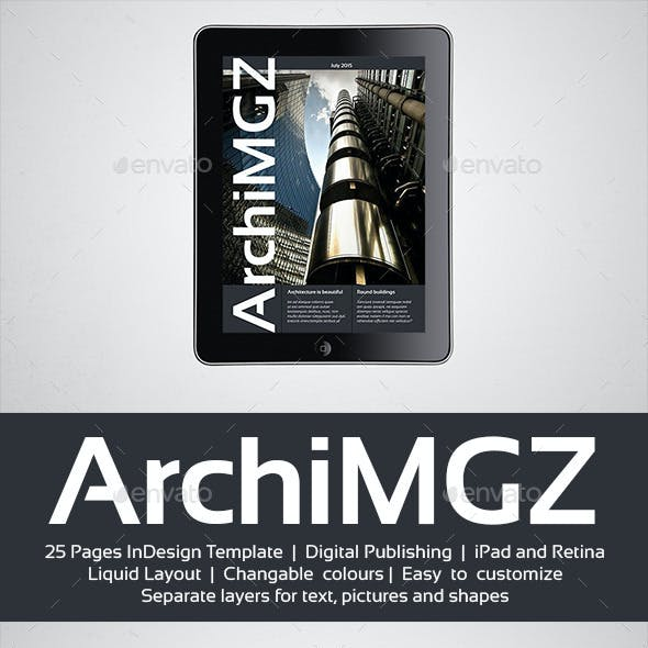 Tablet Architecture Magazine Template