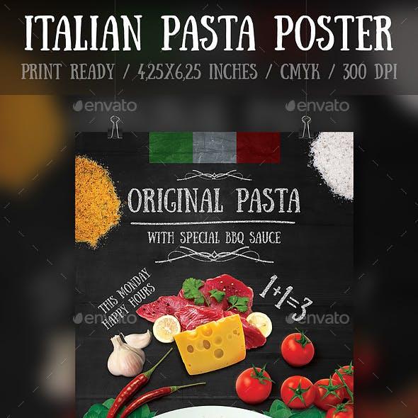 Italian Pasta Flyer\Poster Template
