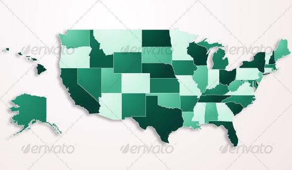 USA Map - Miscellaneous Vectors