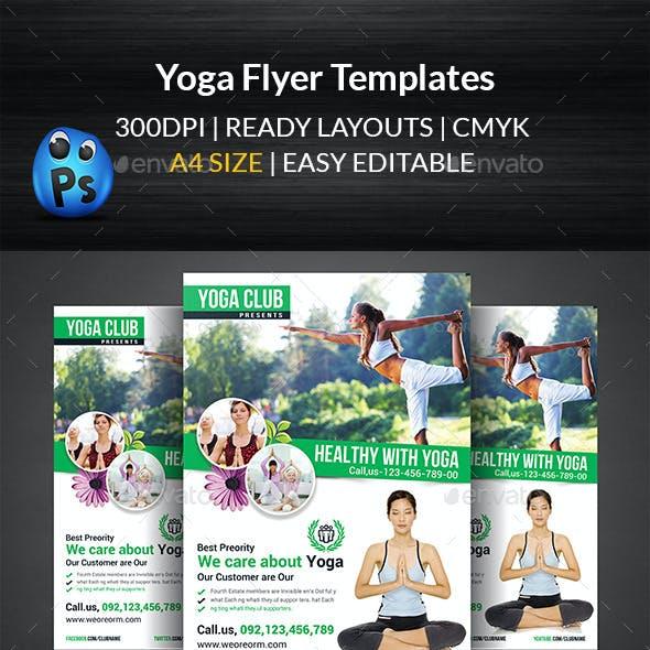 Yoga Flyer Print Templates