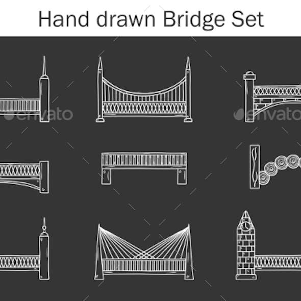 Set Of Simple Cute Cartoon Outline Black-white