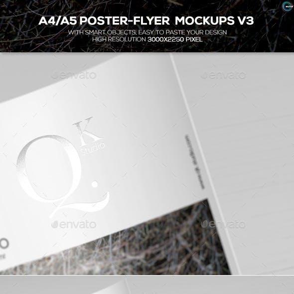 A4/A5 Poster-Flyer Mockups V3