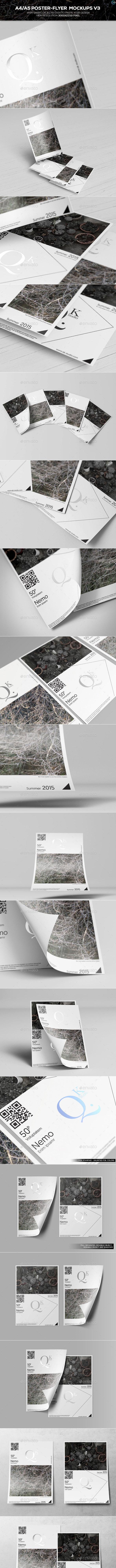 A4/A5 Poster-Flyer Mockups V3 - Flyers Print
