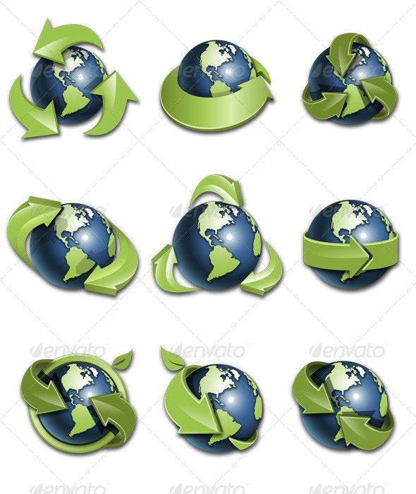 Globe Icons - Web Icons