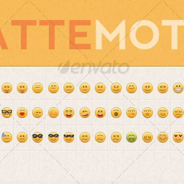 Matte Motes Emoticon Set