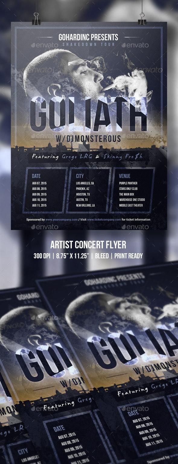 Artist Concert Flyer - Concerts Events