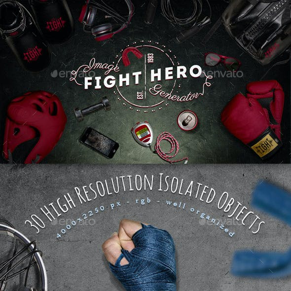 Fight Sport Hero Image Generator