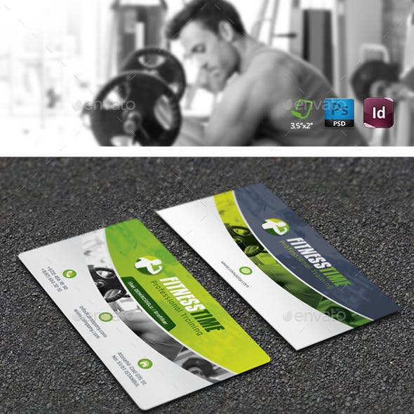 Fitness Salon Business Card Templates