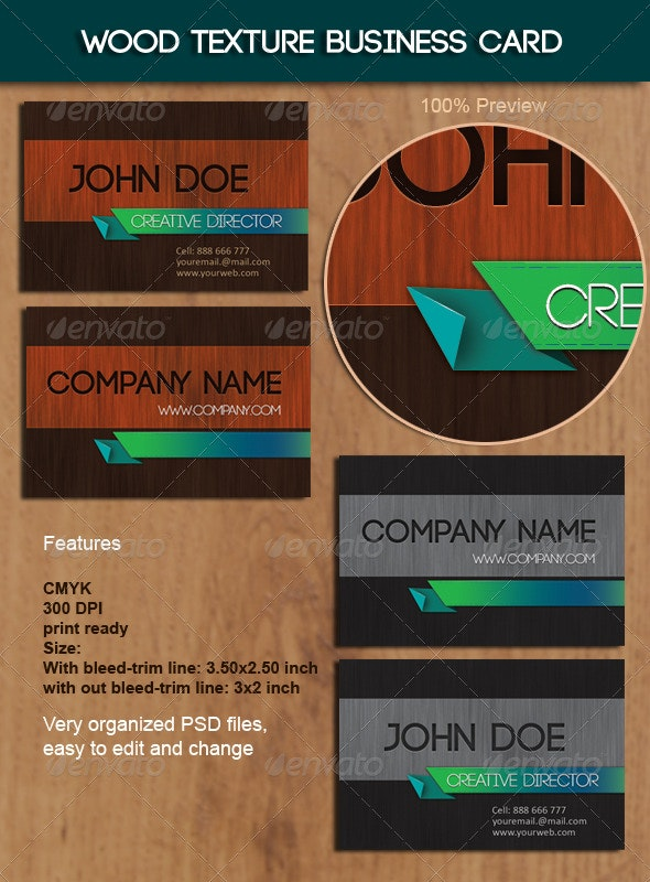 Wood Texture Business Card  - Creative Business Cards