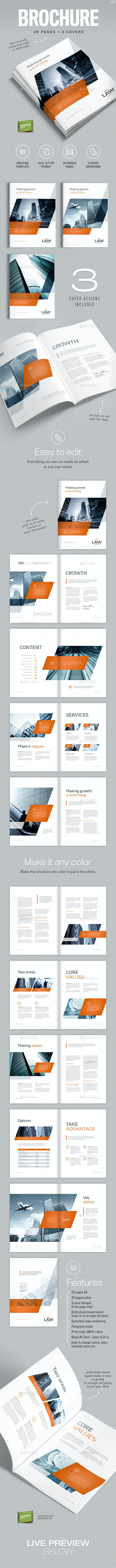 Brochure template for Indesign - A4 and Letter - Corporate Brochures