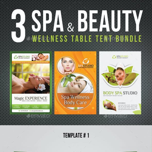 3 in 1 Spa And Beauty Table Tent Bundle V02